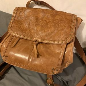 The Sak Leather Messenger Bag